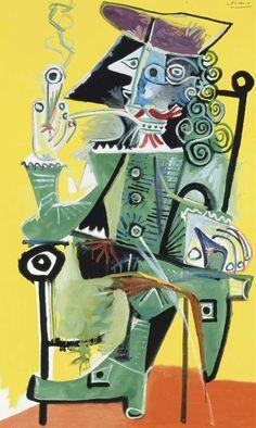 Pablo Picasso, 1968 Mousquetaire à la pipe 3 on ArtStack #pablo-picasso #art
