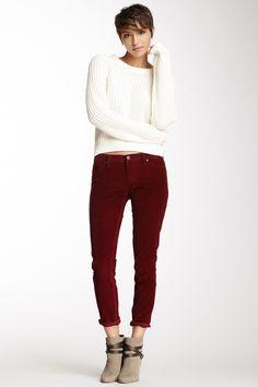 Fine Wale Cord Spray on Skinny Jean on HauteLook