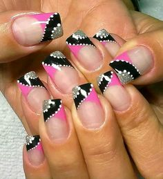 Latest Nail Art Designs for Young Girls 2014 Funky Nails, Trendy Nails, Hot Nails, Hair And Nails, French Nail Art, Latest Nail Art, Elegant Nails, Fabulous Nails, Cute Nail Designs