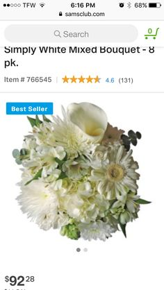 Sam's club flowers- make up to 12 bouquets