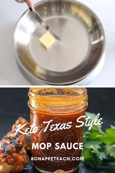 Looking to keep your smoked meats keto friendly or sugar free? Try this mop sauce recipe that's perfect for brisket, burnt ends, ribs and more! Pulled Pork Sauce Recipe, Low Carb Bbq Sauce, Barbecue Sauce Recipes, Smoker Recipes, Sugar Free Barbeque Sauce Recipe, Brisket Sauce Recipe, Texas Bbq Sauce, Paleo Bbq Sauce, Recipes