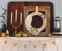 Try layering items on your mantel for big impact!