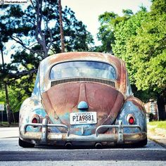 Vw Bus, Vw Camper, Vw Rat Rod, Old Bug, Kdf Wagen, Rat Look, Vw Vintage, Rusty Cars, Abandoned Cars