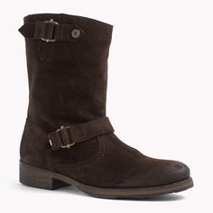 Tommy Hilfiger Suede Mid Boot - coffee bean (Brown) - Tommy Hilfiger Boots - main image