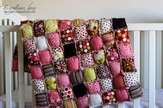 How to Make a Rag Puff Quilt Pattern PDF File door HoneybearLane