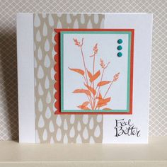 Feel Better card using World of Dreams stamp set in colours of Tangerine Tango with Coastal Cabana - created by Julia Jordan