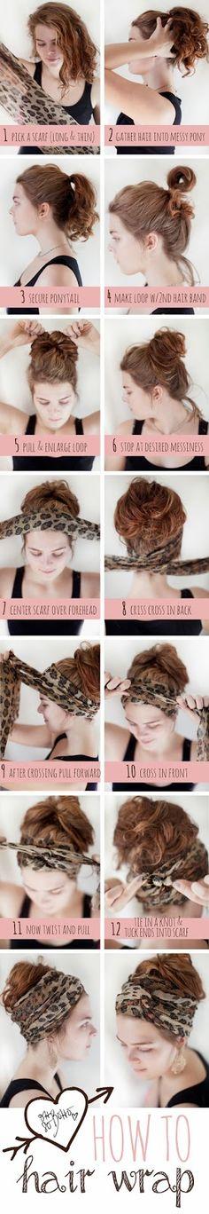 Oh So Boho: How To Hair Wrap: Messy Bun Edition