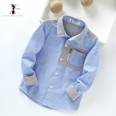 Kung Fu Ant 2017 New Arrival Cotton Turn-down Collar Patchwork Pockets School Uniforms Boys Shirts Blouse 3002 Baby Boy Dress, Baby Boy Outfits, Kids Outfits, Fashion Kids, Baby Boy Fashion, Baby Shirts, Boys T Shirts, Boys Shirt And Pant, Kung Fu