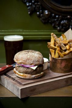Burger and french fries at The Breslin / photo by Nicole Franzen