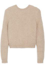 GivenchyBeige angora-blend sweater with elasticated back band