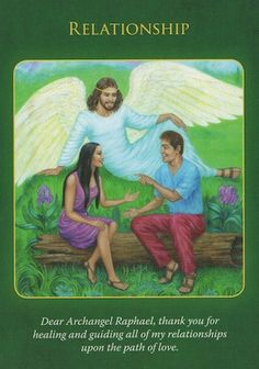 From the Doreen Virtue Archangel Raphael Healing Oracle Card Deck Doreen Virtue, Angel Protector, Reiki, Archangel Prayers, Archangel Raphael, Raphael Angel, Numerology Chart, Numerology Calculation, Astrology Numerology