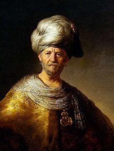 Rembrandt - Man in Oriental Costume, 1632 Rembrandt Paintings, Rembrandt Art, Paul Klee Art, Baroque Painting, Blood Art, Drawn Art, Dutch Painters, Portrait Art, Pencil Portrait