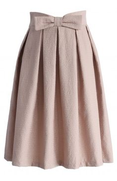 Sweet Your Heart Bowknot Pleated Midi Skirt in Pink - CHICWISH SKIRT COLLECTION - Skirt - Bottoms - Retro, Indie and Unique Fashion