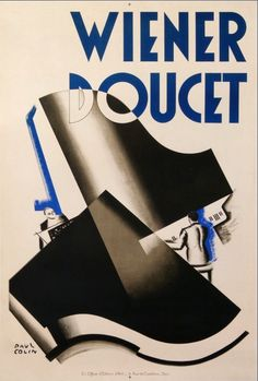 Poster by Paul Colin, Wiener Doucet Pianistes.