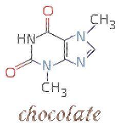 Chocolate Molecule Cross Stitch Pattern PDF