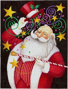 Hat and Cane Santa -- by Stephanie Stouffer
