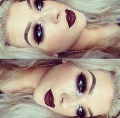 Make up & nose ring ❤