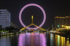 Ride Tianjin Eye, Yongle Bridge, Tianjin, China - Bucket List Dream from TripBucket