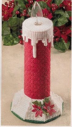 Christmas Candle Plastic Canvas Pattern by needlecraftsupershop,