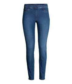 Check this out! Treggings in superstretch twill with an elasticated waist, fake pockets at the front and real pockets at the back. - Visit hm.com to see more.