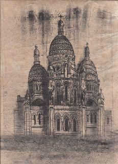 Philippa Randles Illustration: Monoprint Buildings from 'PRINTS  DRAWINGS'