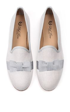 Linen Bow Loafer by DEL TORO for Preorder on Moda Operandi