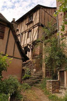 Conques, old village in the Aveyron department in southern France, in the Midi-Pyrénées region