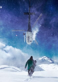 snowboard heli