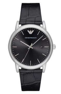 cfde45024de6 Emporio Armani Leather Strap Watch