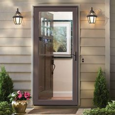 Andersen easy-install storm doors are prepped for quick installation ...