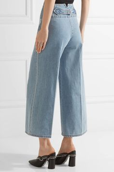 Marc Jacobs - Cropped High-rise Wide-leg Jeans - Light blue - 30