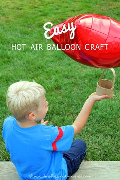 What an easy Hot Air Balloon Craft for Kids! Perfect for summer fun!