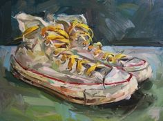 Paul Wright - I FOUND THEM WHERE YOU LEFT THEM - Oil on board
