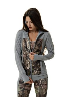 Take your training to the next level with the Girls With Guns Athletic Apparel in Mossy Oak camo, featuring sports bras, jackets, and running & yoga pants!
