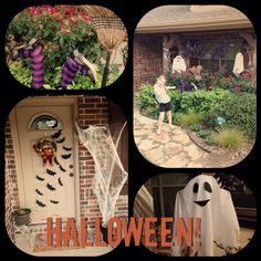 """Thanks to Pinterest, my front yard is super spooky. Check out my """"Fall Crafts"""" board for my inspiration. XO-Ally"""