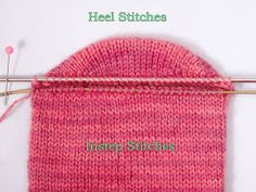 Two-at-a-Time Socks on a Magic Loop: The Heel, Part 1 Knitting Help, Knitting Stitches, Knitting Socks, Knitting Patterns, Crochet Patterns, Knit Socks, Start Knitting, Double Knitting, Toe Up Socks