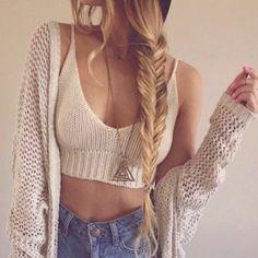 3846354 Knitting beach bra straps vest