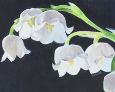 Lily Of The Valley Paintings Originals for Sale