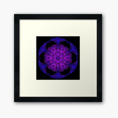Neon purple and pink sacred kaleidoscope by #wendytownrow on #redbubble, available on a broad range of products