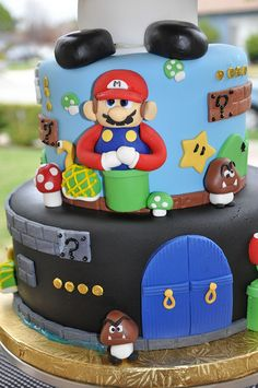 mario brothers cake