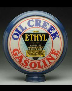 Rare Oil Creek Ethyl Gas Globe!