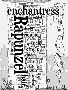 Rapunzel by Scurzuzu using Wordle.net's free web-app and Photoshop.