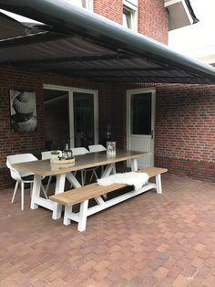 Lichtgrijze dining tuinset met verstelbare stoelen tuinset inspiratie - Kees smit gartenmobel ...