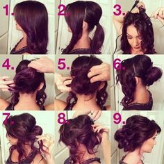 pasos para peinados sencillos - Buscar con Google