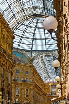 The Arcade in Milan, Italy