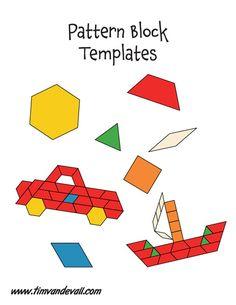 17 Best images about Pattern Block Templates | Math, Paper ...