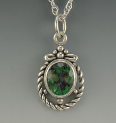 Sterling Silver Mystic Topaz Pendant One of by DenimAndDiaJewelry