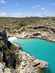 Cala Mármol - Mallorca, Spain Ibiza Travel, Spain Travel, Mallorca Beaches, Beautiful Places To Visit, Beautiful Beaches, Spain And Portugal, Balearic Islands, Honeymoon Destinations, Travel Around