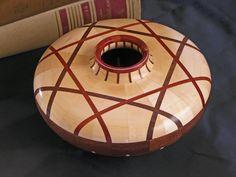 Wood Bowl Segmented Woodturning  Maple Walnut by BarrettWoodShop, $395.00