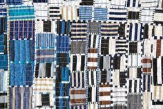 blue, black, white stripes